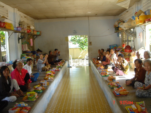 Helping elders and children in VN